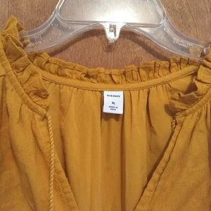 Gold Old Navy High Low Dress NWOT